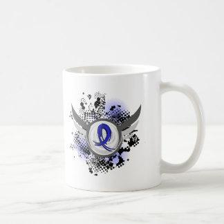 Blue Ribbon With Wings Syringomyelia Basic White Mug