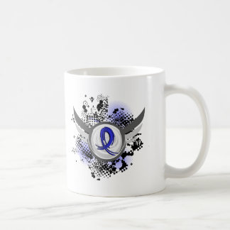 Blue Ribbon With Wings Syringomyelia Classic White Coffee Mug