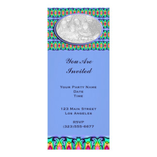 blue ribbons frame personalized invites