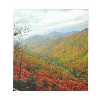 Blue Ridge Mountain Range of North Carolina Notepad