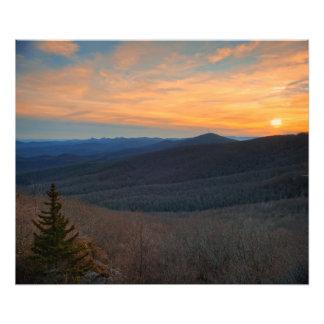 Blue Ridge Mountain Sunset Photo Print
