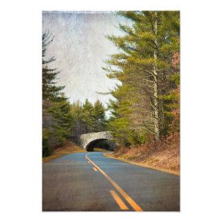 Blue Ridge Mountains Bridge Photo Print