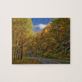 Blue Ridge Parkway curving through autumn colors Jigsaw Puzzle