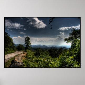 Blue Ridge Parkway HDR Poster