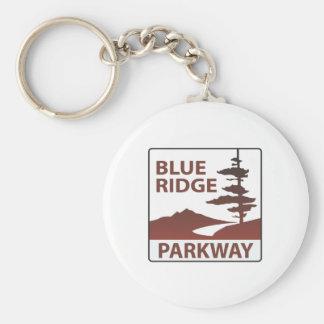 Blue Ridge Parkway Highway Road Trip Basic Round Button Key Ring