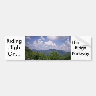 Blue Ridge Parkway Mountain View Bumper Sticker