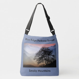 Blue Ridge Parkway Smokies Sunset Photo Crossbody Bag