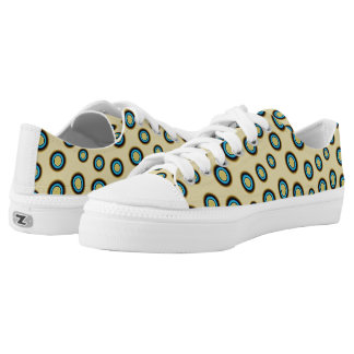 Blue Ring Octopus Printed Shoes