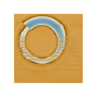 blue ring wood wall art
