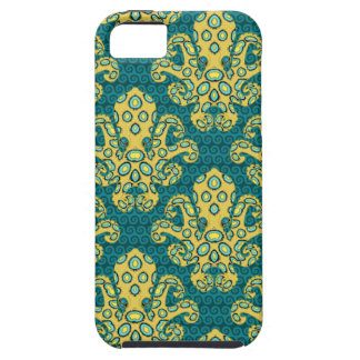 Blue-Ringed Octopus Damask iPhone 5 Cases