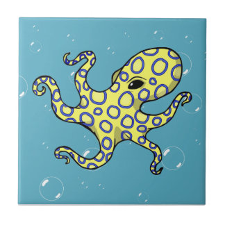 Blue Ringed Octopus Tile