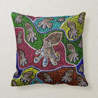Blue Ringer Octopus Dot Art Throw Cushion