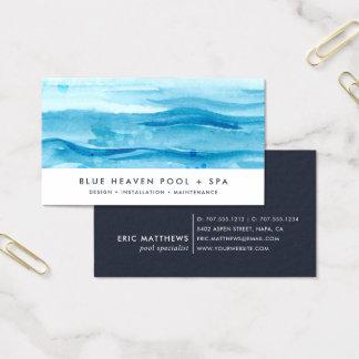 Blue Ripple | Pool Care or Swim Business Card