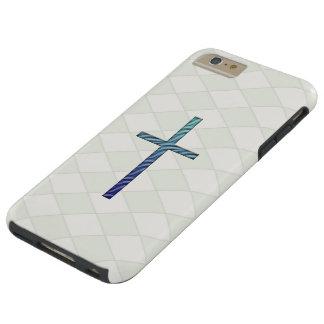 Blue Rippled Cross-Religious Tough iPhone 6 Plus Case