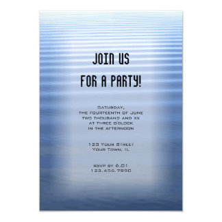 Blue Rippled Water All Purpose Party Invitation