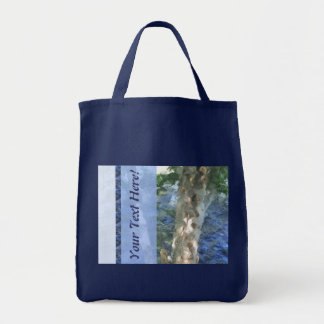 Blue River Tree Grocery Tote Bag