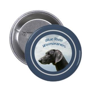 Blue River Weims logo 6 Cm Round Badge