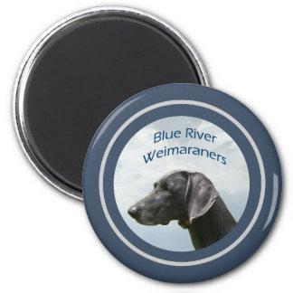 Blue River Weims logo 6 Cm Round Magnet