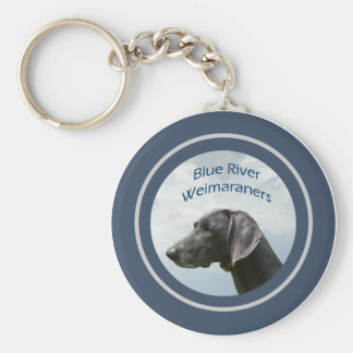 Blue River Weims logo Basic Round Button Key Ring