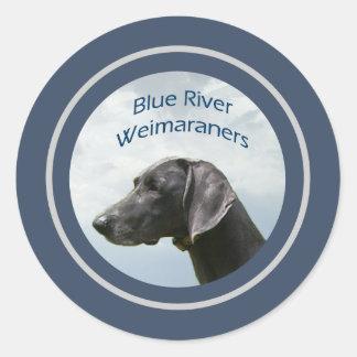 Blue River Weims logo Sticker