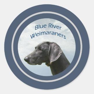 Blue River Weims logo Round Sticker