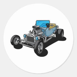 Blue Roadster Round Sticker