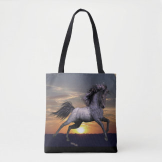 Blue Roan Horse All-Over-Print Tote, options Tote Bag