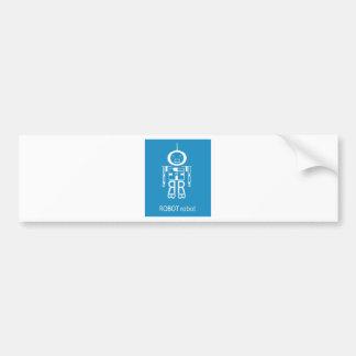 Blue Robot Bumper Stickers