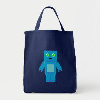 Blue Robot Tote Bag
