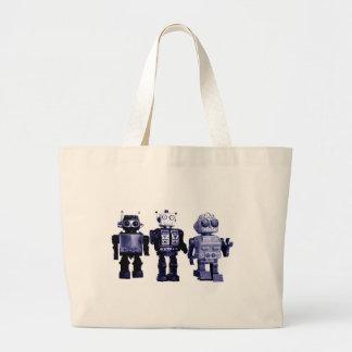 blue robots bag