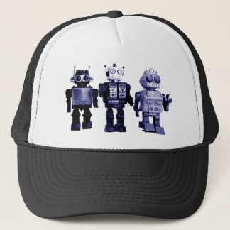blue robots hat
