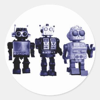 blue robots sticker