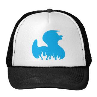 Blue Rockabilly Duck Mesh Hat