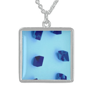 BLUE ROCKS STERLING SILVER SQUARE NECKLACE