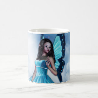 Blue Romantic Butterfly Fairy Coffee Mug V. 2