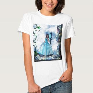 Blue Romantic Butterfly Fairy T-Shirt