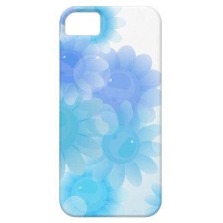 Blue romantic vintage flowers iPhone 5 cases