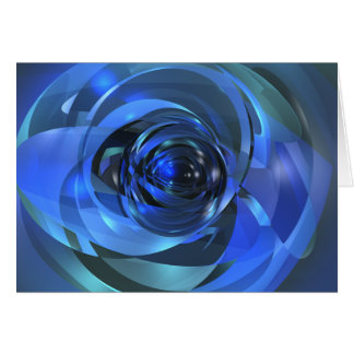 Blue Rondo Greeting Card