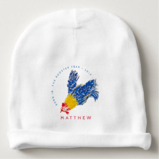 Blue Rooster 2017 Child Painting Baby Beanie
