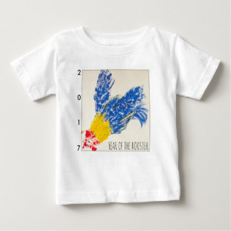Blue Rooster 2017 Child Painting Baby Tee