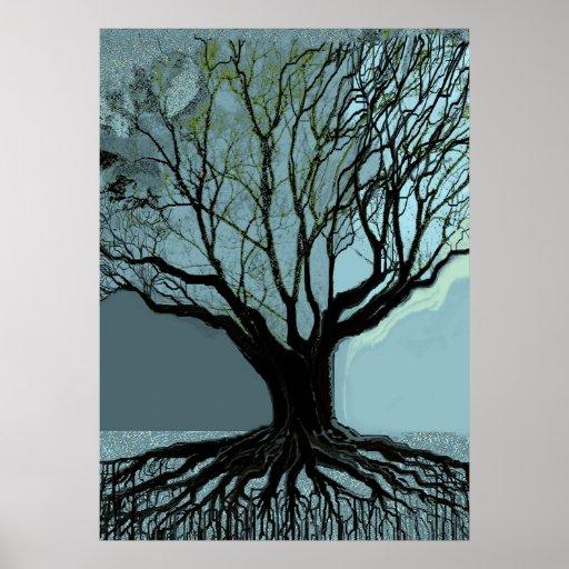Blue Roots Print