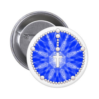 Blue Rosary Dream Catcher 6 Cm Round Badge