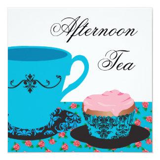 Blue Rose Afternoon Tea Card
