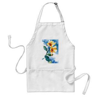 blue rose apron