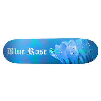 Blue Rose background Customizable text Skateboard