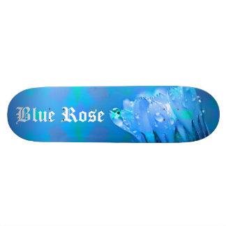 Blue Rose background Customizable text Skateboard