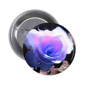 Blue Rose Pinback Button
