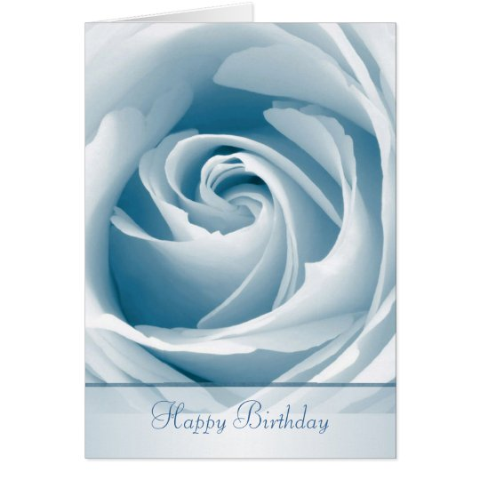 Blue rose birthday Card