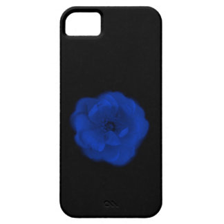 Blue Rose, Black Background. Case For The iPhone 5