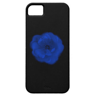 Blue Rose, Black Background. iPhone 5 Covers
